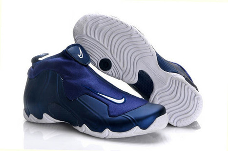 Air Flightposite 1 Royal Blue and Navy Blue and White Men Basketball Sneakers | new and share list | Scoop.it