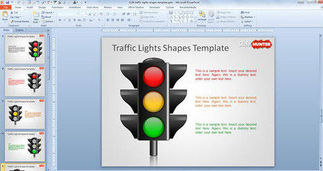 Free Traffic Lights Shapes Template | Free PowerPoint Templates 1 | Scoop.it