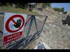Wall collapses at Pompeii amid wave of bad weather - GazzettaDelSud | Teaching history and archaeology to kids | Scoop.it