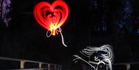 Stunning light art tribute to Banksy by Michael Bosanko   D_sign   Scoop.it