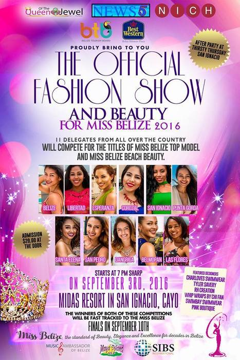 Miss Belize 2016 - Fashion and Beauty Show - Saturday, September 3rd | Travel - Things to do in Belize | Scoop.it