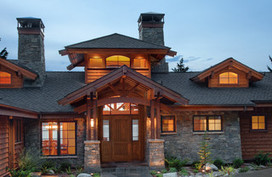Mountain Lake Home Entry - asian - exterior - boise - by Hendricks Architecture | Craftsman Architecture | Scoop.it