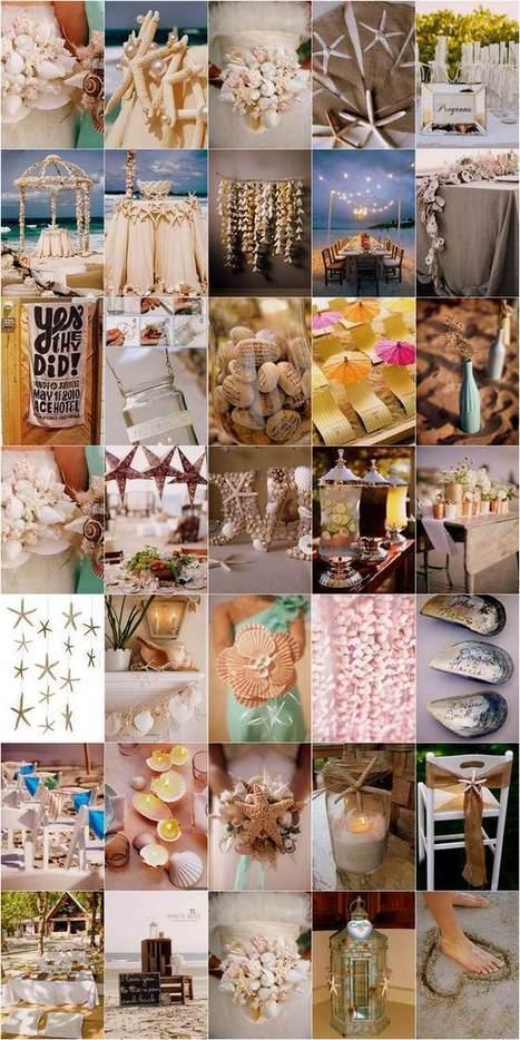 30 Beach Themed Wedding Projects & DIY Inspiration | Confetti Daydreams | DIY WEDDINGS | Scoop.it