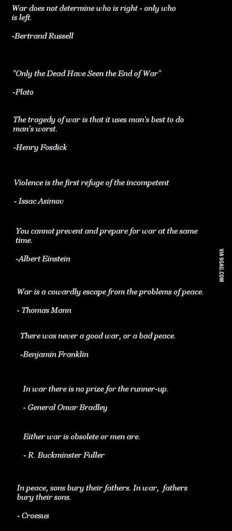 Citations à propos de la guerre | Varia | Scoop.it
