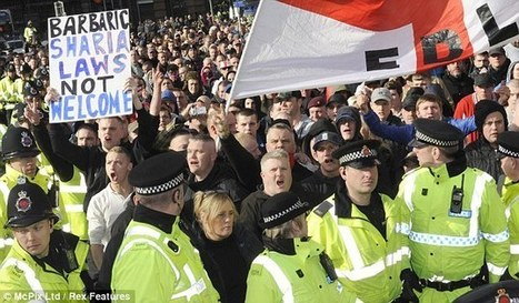 Two held and smoke bombs hurled at police as English Defence League confront anti-fascist group | Manc Demo | Scoop.it