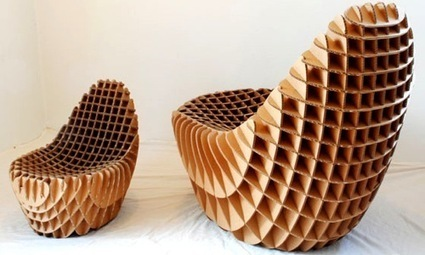 Des meubles en carton recyclé - Toutvert | meubles et objets en carton | Scoop.it