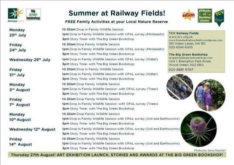 Loads of FREE family activities this summer at Railway Fields! Check it out, spread the word! | Muswell Hill News | Scoop.it