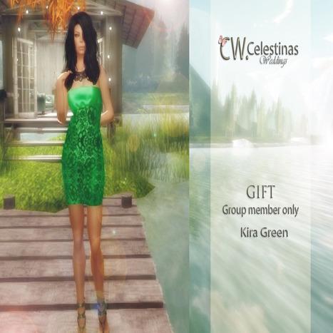 Kira Green Dress Group Gift by CW (Celestinas Wedding) | Teleport Hub - Second Life Freebies | Second Life Freebies | Scoop.it