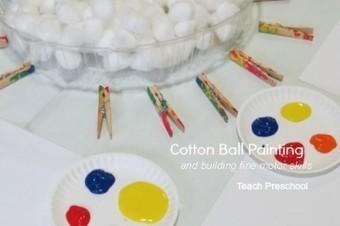Building fine motor skills with cotton ball painting | Teach Preschool | Scoop.it