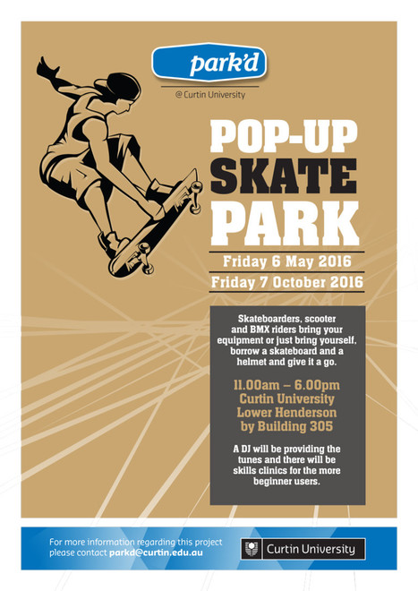 Pop-up Skate Park - Staff News | Curtin University, Perth, Australia | A Random Collection of sites | Scoop.it