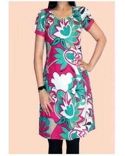 Multiprinted Cotton Kurti | EdayGarments- Buy Dresses, skirts, tops, Tunics | Scoop.it