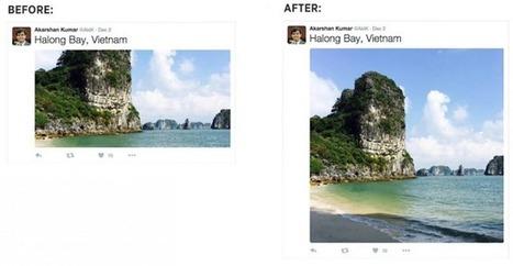 Un nouveau look pour les photos publiées sur Twitter via le Web | Twitter pour les petites et moyennes entreprises (PME-TPE) | Scoop.it
