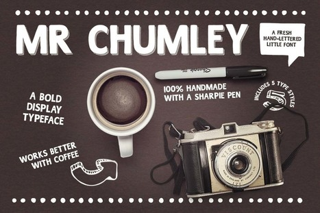 Mr Chumley font designed with a sharpie marker pen | My Typefaces | Scoop.it