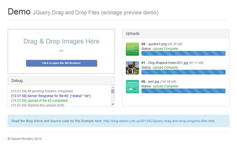 Drag and Drop jQuery File Uploader with Progress Bar | Tecnología Web & Móvil | Scoop.it