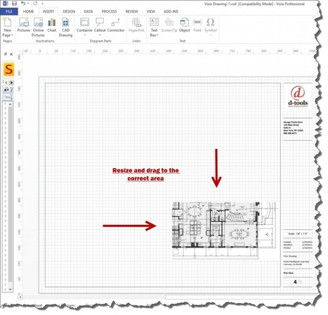 How to insert a high quality PDF into Visio | D-Tools NewsBlog | System Integration just got easier | Custom Integration | Scoop.it