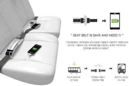 Recharger son smartphone avec sa ceinture de sécurité   Connecté au quotidien   Scoop.it