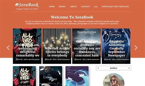 Sora Book Blogger Template | Blogger themes | Scoop.it