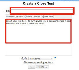 Nik's QuickShout: Create interactive cloze texts | Using Educational Technology for Adult ELT | Scoop.it