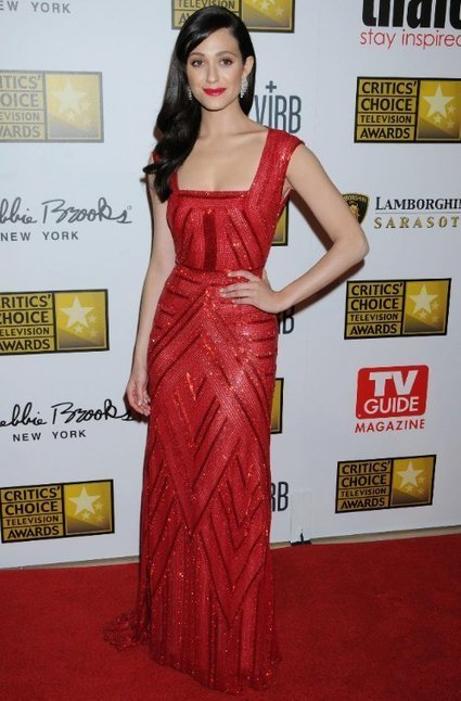 Hot Emmy Rossum in Red Naeem Khan Gown | Red Carpet Fashion | Scoop.it