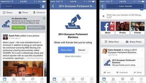 Facebook nous invite à voter | We are social | Scoop.it