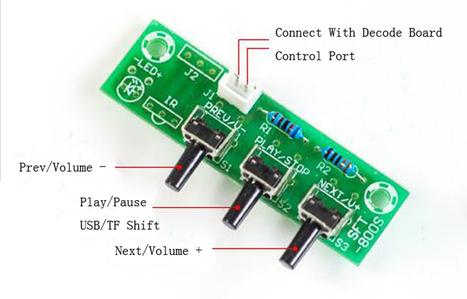 MP3 Decoder Board Decoder Module Key Control For Electric Components - Digital Amplifier Module - Arduino, 3D Printing, Robotics, Raspberry Pi, Wearable, LED, development board Black Friday 2016 IC...   Modules   Scoop.it