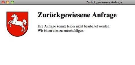 Niedersachsen sperrt Websites für anonyme Nutzer #spiegel #spy   Cyberwar   Scoop.it