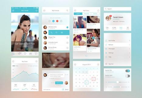iOS7 UI components PSD | Freebiesbug | World news | Scoop.it