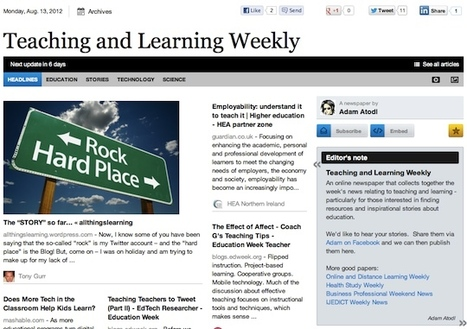 Aug 13 - Teaching and Learning Weekly   Education Futures   Scoop.it