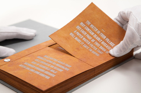The drinkable book cleans and purifies water with advanced filtering paper | Semiotic Adventures with Genetic Algorithms | Scoop.it