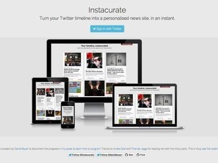 Instacurate, générer un magazine numérique depuis un compte Twitter | Outils de veille & Curation tools | Scoop.it