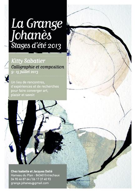 l'Atelier: La Grange Johannes : stage calligraphie et composition ... | Apprendre la calligraphie | Scoop.it