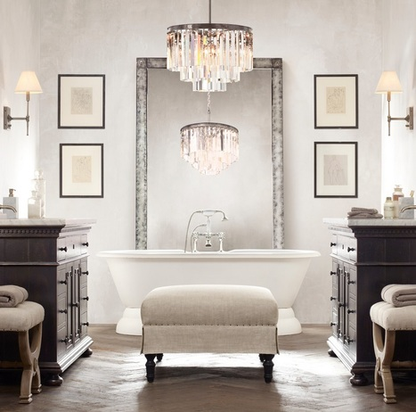 Chandeliers… Brightening Up the Bathroom | All About Bathroom Remodel | Scoop.it