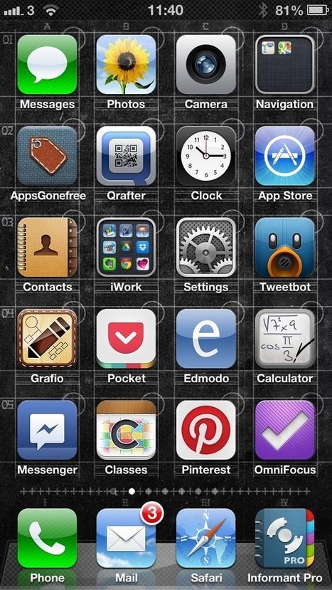 My iPhone home screen and sub-folder: #edtech #iosedapp #ADEdu http://twitter.yfrog.com/nvl4unvp http://twitter.yfrog.com/nvlb2hp   Go Go Learning   Scoop.it