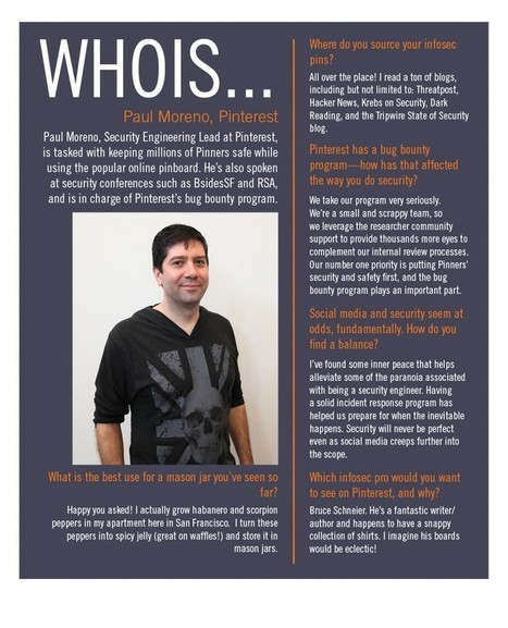 WHOIS: Paul Moreno, Security Engineering Lead at Pinterest - OpenDNS Blog | Pinterest | Scoop.it