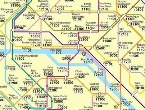 Paris Rents, Mapped by Metro Station | Veille en Habitat-immobilier | Scoop.it