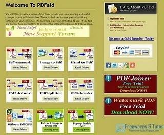 PDFAid: une application en ligne pour éditer vos fichiers PDF gratuitement | Ce qui m'intéresse | Scoop.it