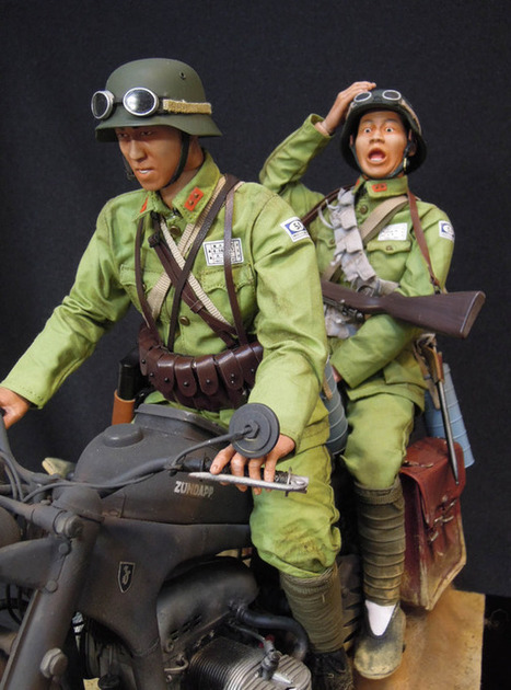 Slow down, bugger! Chinese Nationalist Army motorcyclist   Robby Toledano   Scoop.it