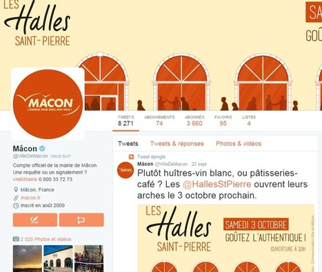Les 100 villes les plus actives sur Twitter en septembre 2015 | Le blog d'eTerritoire | 694028 | Scoop.it