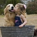A dog hot kiss in a sweet girl | 2 dogs are very happy | Scoop.it