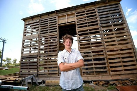 Only Angus wood build a house by recycling wooden pallets | Reuse | Scoop.it