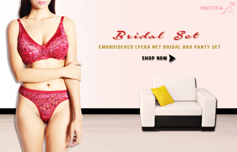 Bridal Bra panty set | buy nightwear online india | Scoop.it