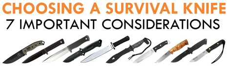 Choosing a Survival Knife – 7 Important Consideration   911Gear.ca - Security Equipment   Police Gear   Scoop.it