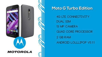 Motorola Moto G Turbo Edition launched in India with price Rs 14,499/- | Latest Smartphones | Scoop.it