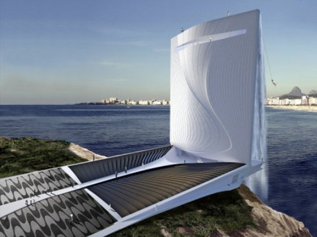 Gigantic Energy-Generating Waterfall Skyscraper Could Power the 2016 Rio Olympics | Communication design | Scoop.it