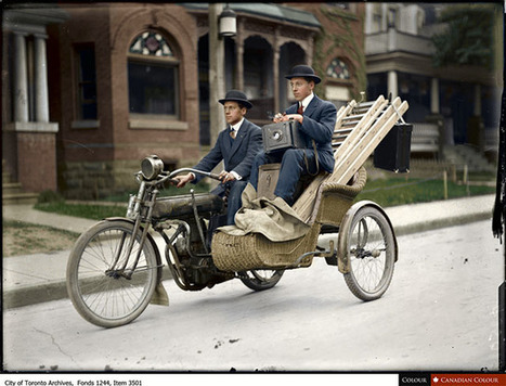 A Colorized Photo of Photographers Traveling with their Gear in 1912 Toronto | a photographer's life | Scoop.it