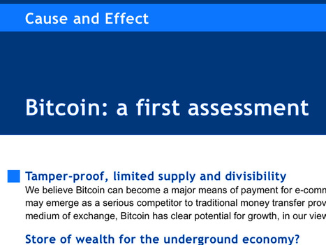 BOOM: A Major Wall Street Bank Just Initiated Coverage On Bitcoin And Identified A Fair Value | ביטקוין | Scoop.it