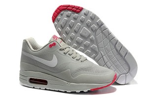 Mens Air Max 1 Hyperfuse Grey White Pink Shoes | want and share | Scoop.it