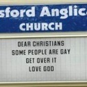 "Best church sign ever: ""Some people are gay. Get over it"" 
