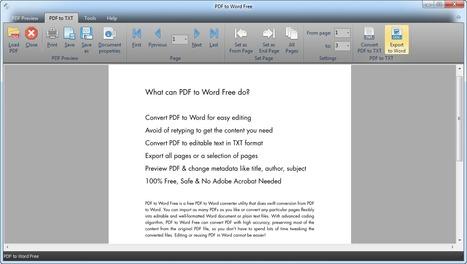 Convertir les fichiers Pdf en Word pour Windows : PDF to Word Free | Time to Learn | Scoop.it