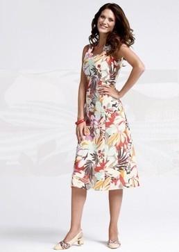 Robe en lin avec motif floral | Les offres spéciales AtelierGS | Scoop.it